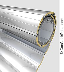 Rolled window shutters - Three dimensional visualization of...