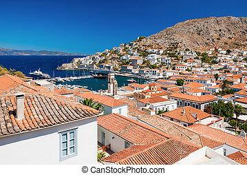 overview, isola, idra, grecia