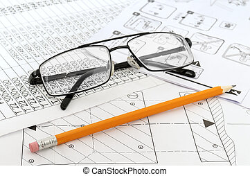 Glasses, pencil and paper workers...
