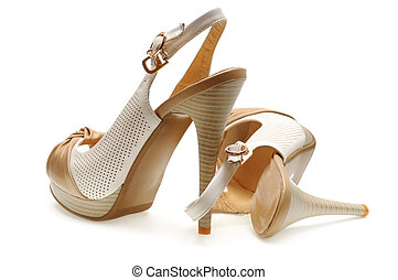 woman shoes isolated on a white background...