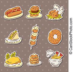 fast food stickers draw