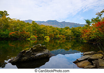 Kamaike pond, Joshinetsu kogen National Park, Japan