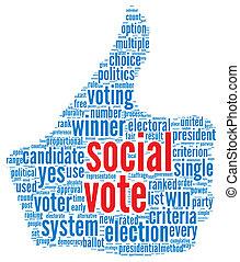 Social media vote concept - Scoail media vote concept in...