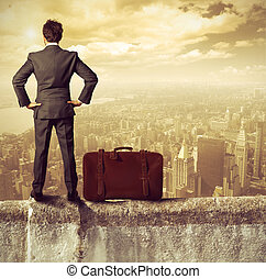 Businessman and success - Concept of success of a...