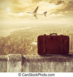 Travel - Concpet of travel by airplane