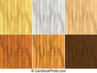 Vector Wood grain effects - Vector pattern set of wood...