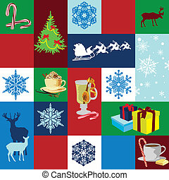 seamless background Christmas holid - Seamless background...