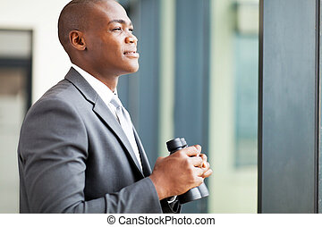 determined african american businessman