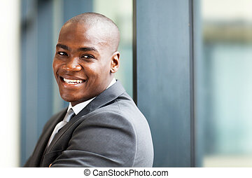 african american business owner - young male african...