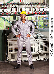 african american textile worker full length