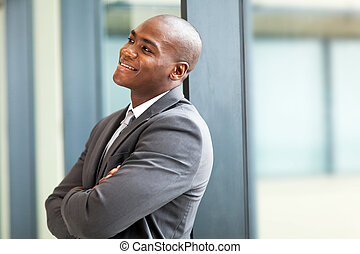 happy young african american businessman