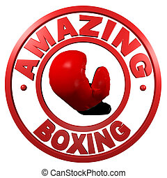 Amazing Boxing circular design