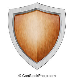 protection shield isolated on white background