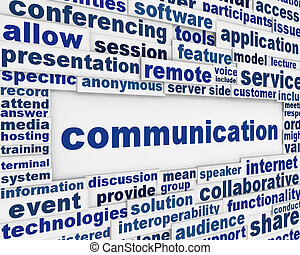 Global communication poster design. Information media...