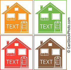 home with place for text