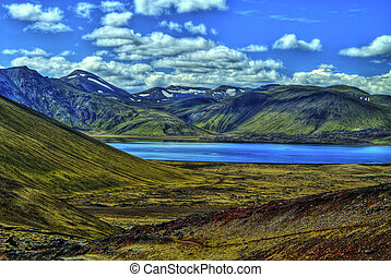 Landmannalaugar mountains in HDR, Iceland