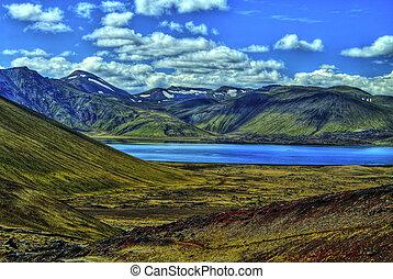 Landmannalaugar mountains in HDR, Iceland