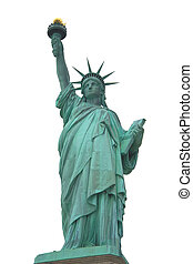 Statue of Liberty isolated