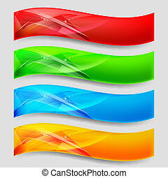 Web Panels - Web Wave Panels Form an Abstract Background