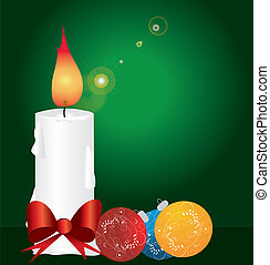 Christmas decoration with candles