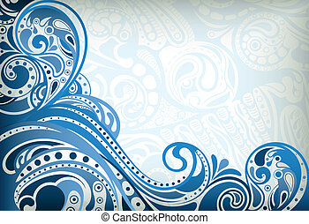 Abstract Blue Curve - Illustration of abstract curve...
