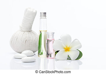 spa objects - view of spa theme object on white background