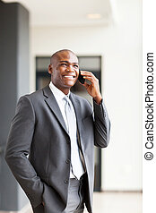 african american business executive - handsome african...