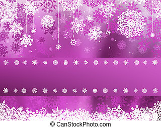 Purple christmas with snowflake. EPS 8 - Purple christmas...