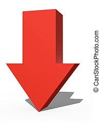 3D Arrow Sign - A 3d arrow sign isolated against a white...