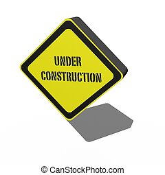 3D Sign - A 3d sign isolated against a white background