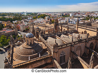 Cathedral La Giralda at Sevilla Spain - architecture...