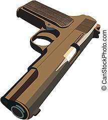 Handgun - Vector image of handgun