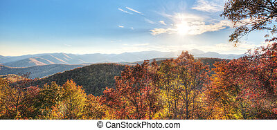Panorama of Blue Ridge Mountains