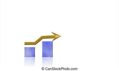 Growth bar graph on white
