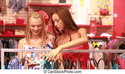 Wide choice - Charming young women enjoying wide choice of...