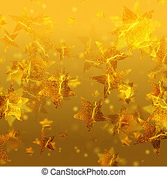 shining golden stars