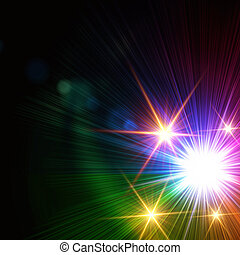 rainbow colorful lights, lens flare - abstract rainbow...