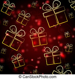 abstract red background with presents