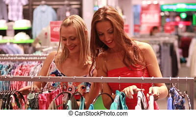 Sales experts - Pretty girlfriends enjoying spree season...