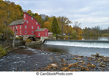 Red Mill View - The historic Red Mill in Clinton Township in...