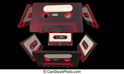 Flying audio cassettes