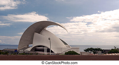 Auditorium located on the Spanish island of Tenerife in a...