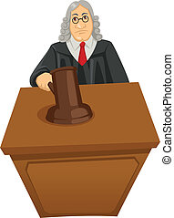 Judge - Cartoon illustration of a judge