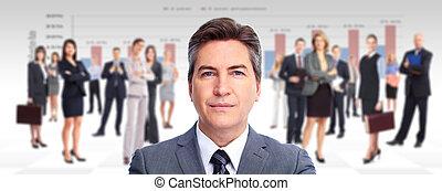 executivo, homem negócios