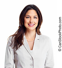 Business woman. - Portrait of happy young business woman...