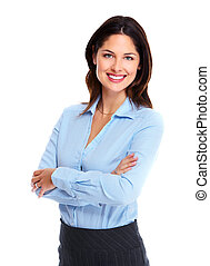 Business woman - Portrait of happy young business woman...