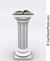 Columns 02 - Conceptual book on roman column - 3d render