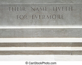 detail with epitaph on Florence War Cemetery - burial ground...