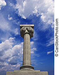 Columns 12 - Conceptual ionic- style Greek column - 3d...