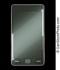 Front view of smart phone with touch screen